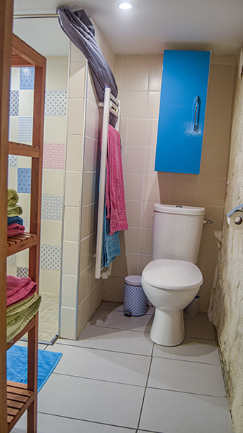 toilettes chambre d'hotes